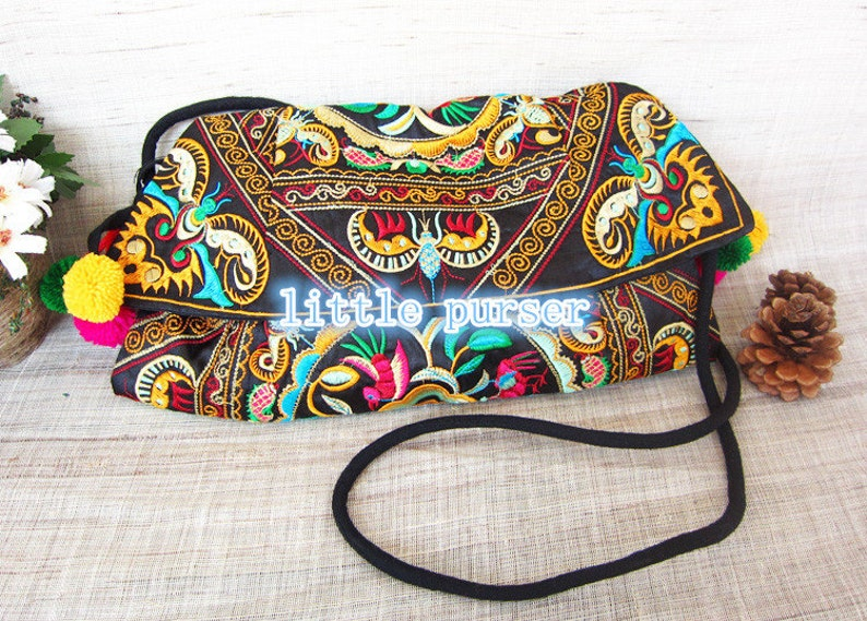 Chinese wind bag folk style embroidered bag backpack,Flower Purse Purse Embroidery bag Flower Bag