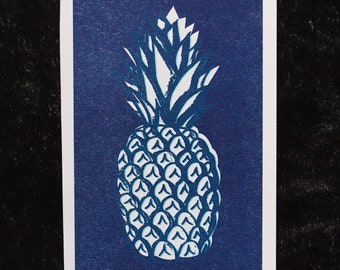 Pineapple Riso print