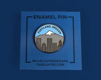 Portland Oregon Enamel pin, state enamel pin, Oregon enamel pin, pnw pin, Portland enamel pin, Mt Hood enamel pin, stocking stuffer