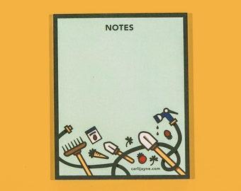 Gardening Notepad   Gift For Gardener   Cute Stationery   Blank Notepad   Floral Notepad   Garden Gift