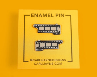 Photography Film Collar Pin   Unique Enamel Pin   Fine Art Photography Gift   Art Jewelry Accessory   Gift For Photographer   Photo Film Art