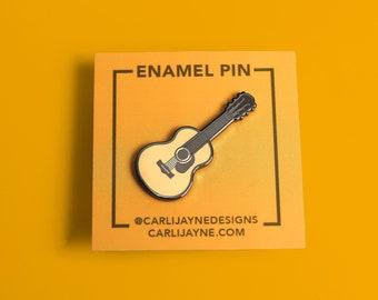Acoustic Guitar Enamel Pin   Gift For Musician   Cute Pin   Guitar Gifts   Music Gift   Cute Music Art   Music Teacher Gift   Guitar Art