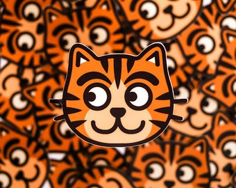 Cat sticker, Orange cat sticker, ginger cat sticker, kitten sticker, gifts for cat people