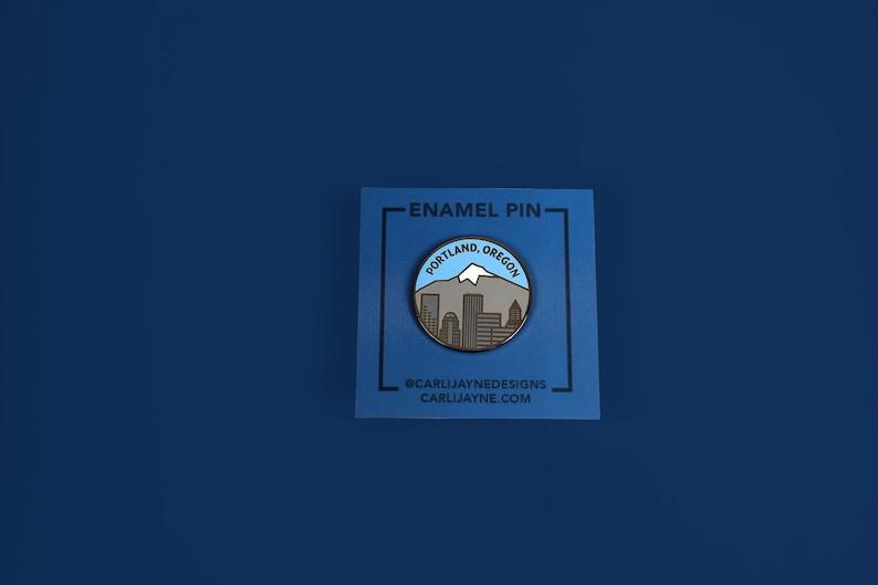 Portland Oregon Enamel pin state enamel pin Oregon enamel image 0