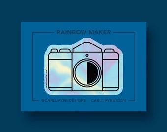 Rainbow maker, Rainbow Suncatcher, Camera Window Cling, suncatcher Sticker, rainbow maker decal, photography suncatcher, camera rainbow