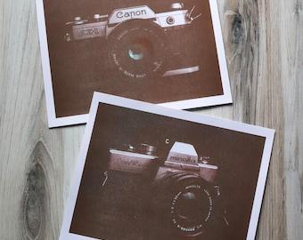 Film camera riso prints - Risograph prints