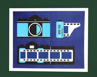 Film camera Riso print