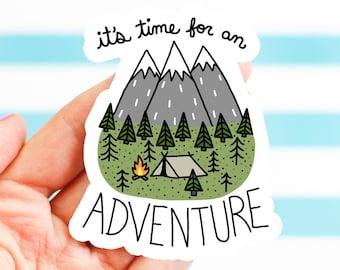 Outdoorsy Gift, Adventure Sticker, Mountain Sticker, Vinyl Sticker, Camping Sticker, Travel Sticker, Hiking Gear, Bumper Sticker, Helmet