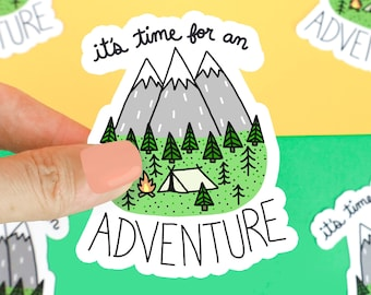 Mountain Sticker, Funny Stickers, Outdoorsy Gift, Gift For Him/Her, Adventure Decal, Camping Sticker, Gift For Hiker