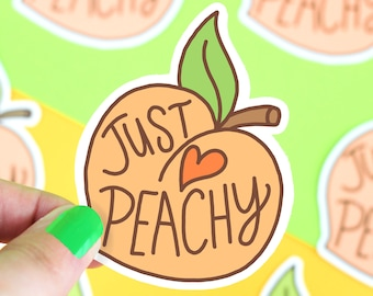 Peach Sticker, Stickers, Just Peachy, Vinyl Stickers, Gift For Her, Southern Belle, Cute Stickers, Laptop Decal, Cute Sticker, Gifts Under 5