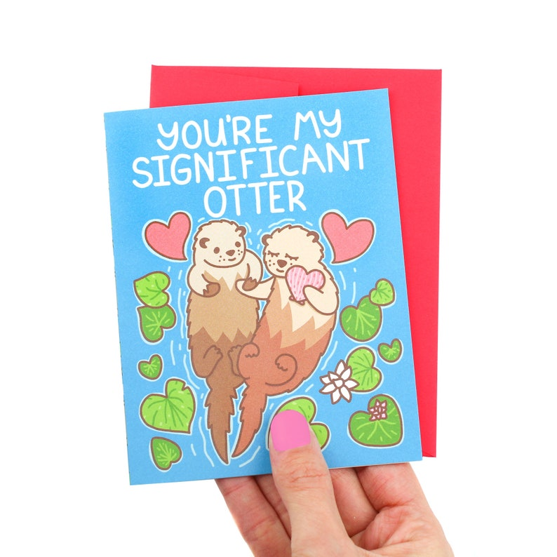Funny Anniversary Card Significant Otter Boyfriend Card For image 0