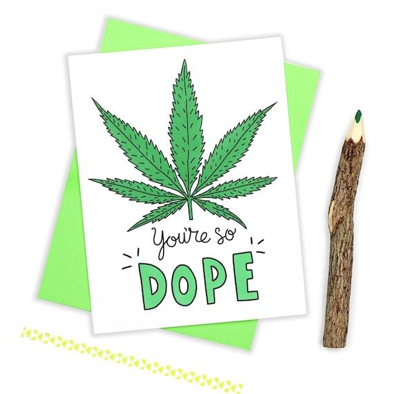 Weed Birthday Card Marijuana Card Stoner Card Cannabis Etsy