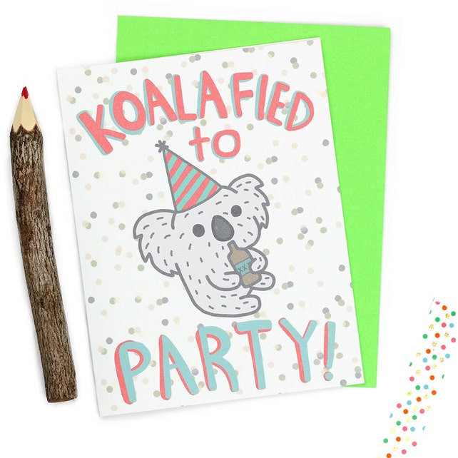 Funny Birthday Cards Koala Koalafied 21st Animal Card Drunk