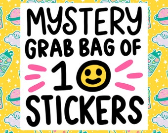 Vinyl Sticker Mystery Pack, Funny Vinyl Stickers, Grab Bag, Blind Box, Colorful Stickers, Laptop Stickers, Car Decals
