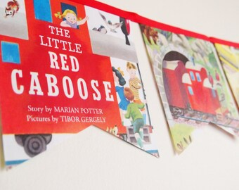 Little Golden Book Bunting- The Little Red Caboose