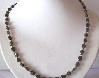 Black tourmaline collier necklace - Tourmaline collier - statement necklace - birthstone