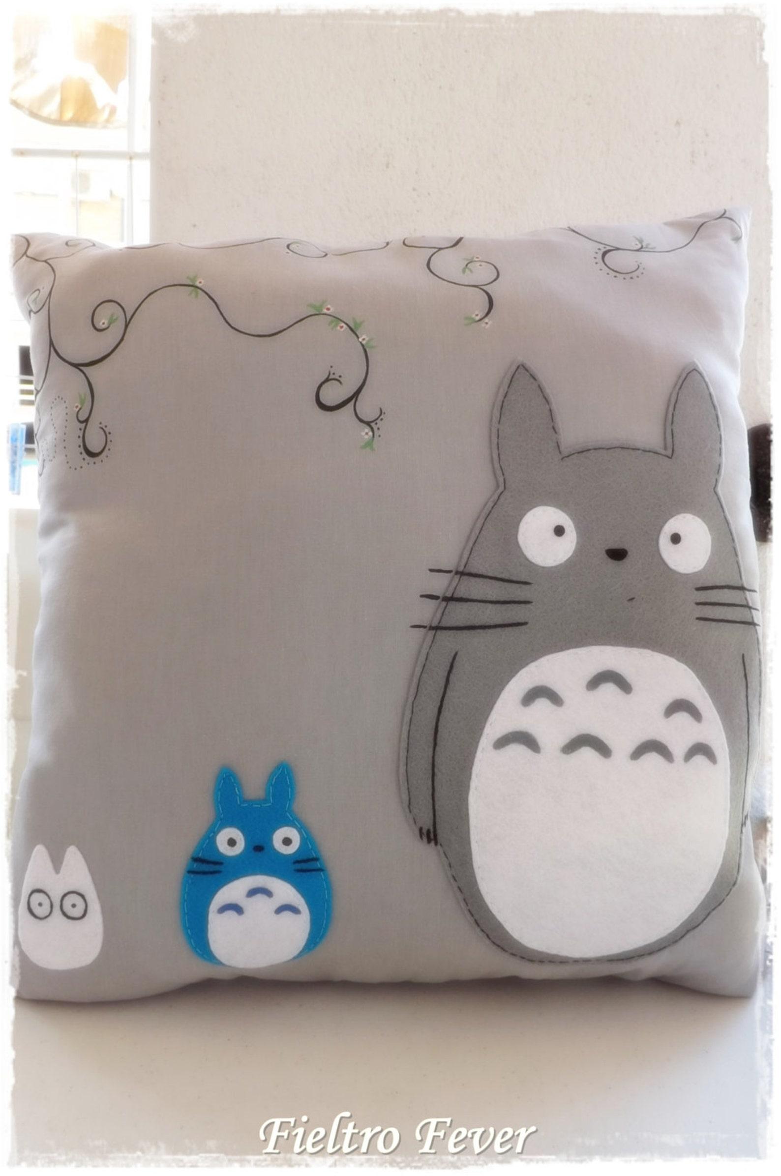 Totoro, Totoro Cushion, Totoro pillow, mi neighbour totoro cushion, totoro purple cushion, hand painted cushion