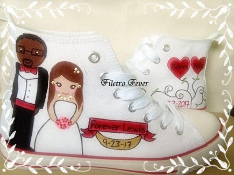 ad82d4aeb Converse Boda zapatillas personalizadas zapatillas