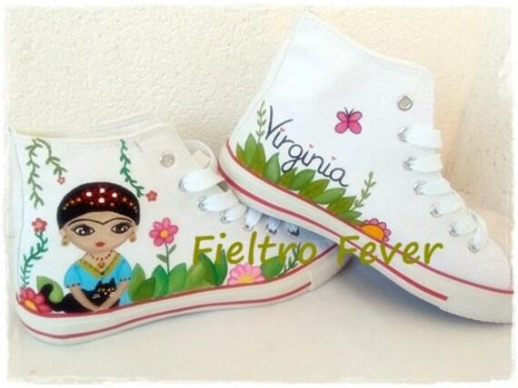 Converse Chaussures Kahlo Frida Frida Kahlo Chaussures Etsy Frida wqq8AI4B
