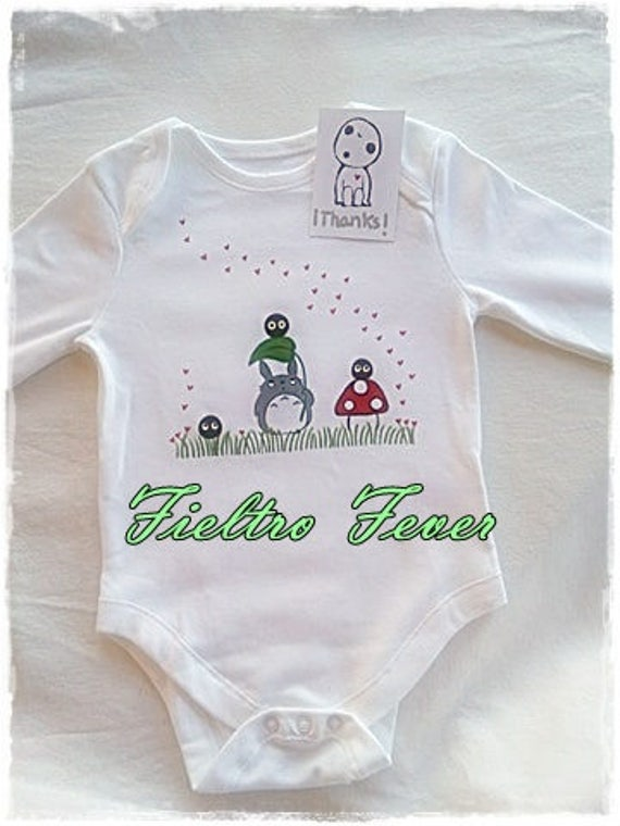 Onesie painted by hand of totoro