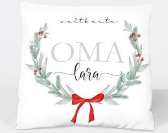 Pillow Cover Christmas Grandma personalized with name Gift Christmas