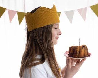 Birthday Crown Muslin Crown Kids with Number
