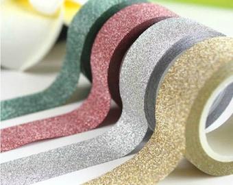 glitter washi tape, washi tape, craft tape, decorative tape, planner stickers, glitter decorations, table centrepiece, wedding invitations