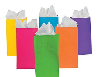 10 x loot bags, coloured bags, gift bags, candy bags, party loot bags, party favours, bonbonniere, wedding favour, candy bar bags, gift bags