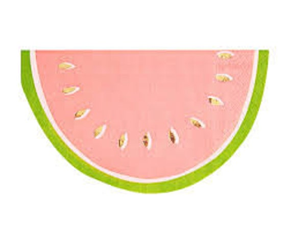 20x Watermelon Disposable Tableware Paper Napkins Hawaiian Luau Party Wedding