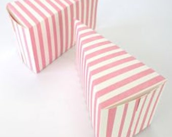 6 x Robert Gordon, Pink stripe, wedge box, cake boxes, pink and gold, bomboniere box, party favors, lolly bags, kids parties, gift packaging
