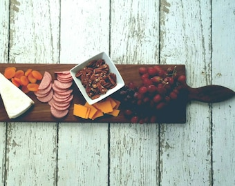 36 Inch WALNUT Large Wooden Serving Platter- Cheese Board with optional engraving