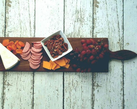 36 Inch- Large Wooden Serving Platter- Cheese Board- in WALNUT- by Red Maple Run