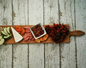 36 Inch OAK Large Wooden Serving Platter- Cheese Board- with optional engraving- gift for foodie