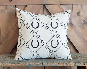 Equestrian Pillow Cover fits 18 x 18 pillow- Choose style, Forms Available