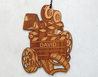 Personalized Film Movie TV Wooden Christmas Ornament
