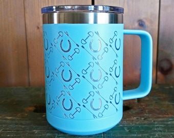 15oz Polar Camel Equestrian Insulated Coffee Mug with Slider Lid