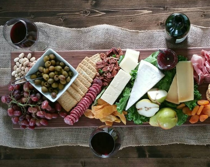 Featured listing image: 42 Inch- Extra Large Wooden Serving Platter- Cheese Board- in Walnut- by Red Maple Run