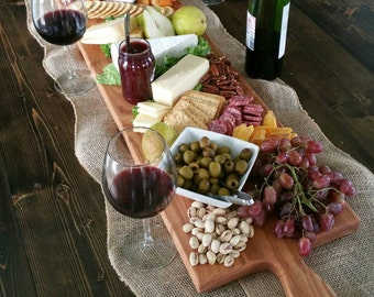 42 Inch- Extra Large Wooden Serving Platter- Cheese Board- in Oak- by Red Maple Run- Cutting Board- Gift for Foodie