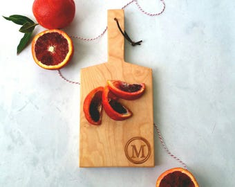 Maple Mini-Boards with handle and Initial Engraving-Cutting Board-Gift for Foodie
