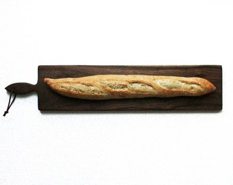 26 inch- French Loaf Bread Board- Walnut- By Red Maple Run- Cutting Board- Gift for Foodie