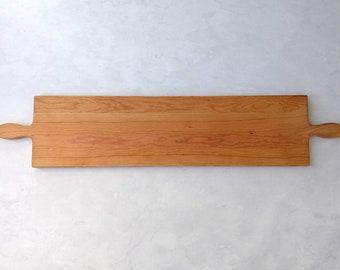 50 Inch- CHERRY Double Handle Wooden Serving Platter