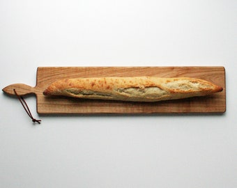 26 inch- OAK French Loaf Bread Board- Cheese Board-Cutting Board- Gift for foodie