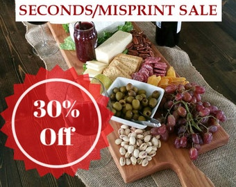SECONDS MISPRINTS SALE- 42 Inch- Extra Large Wooden Serving Platter - Cheese Board- in Oak- by Red Maple Run