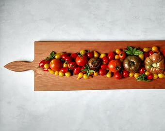 42 Inch CHERRY- Extra Large Wooden Serving Platter- Cheese Board- with optional engraving