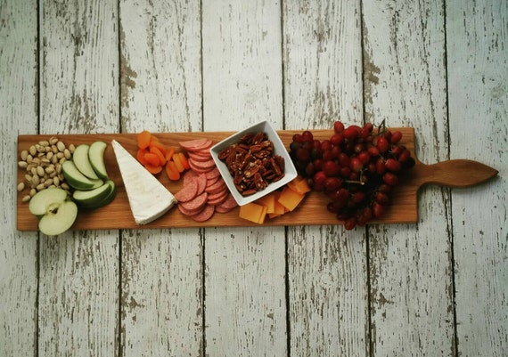 36 Inch- Large Wooden Serving Platter- Cheese Board- in Oak- by Red Maple Run-Cutting Board- Gift for Foodie