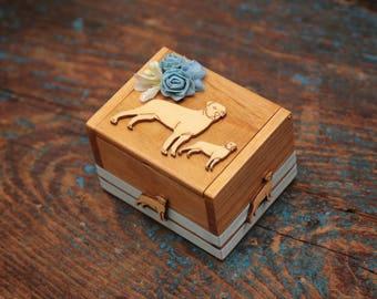 Ringbearer box Rottweiler theme