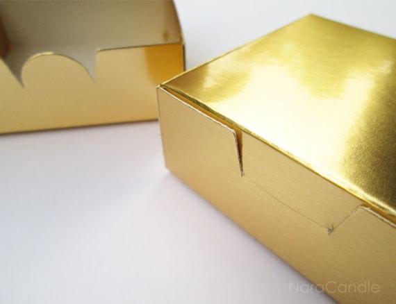 Boîte en or en vrac, petite boîte or métallisé, d'or, boîte de feuille d'or, métallisé, boîte de faveur de mariage, coffret cadeau - lot de 100 304a5f