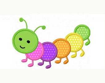 Caterpillar Applique Etsy