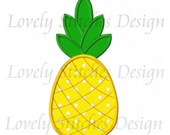 Pineapple Applique Machine Embroidery Design NO:0621