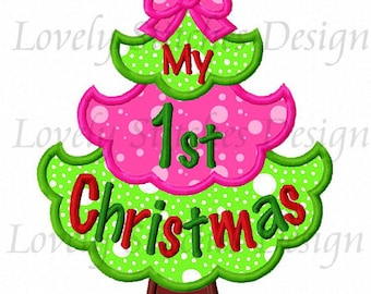 My 1st Christmas Applique Machine Embroidery Design NO:0474